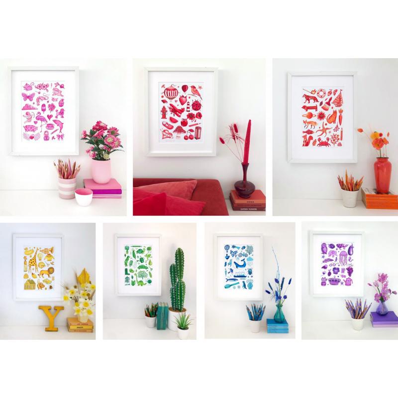 Jennie Maizels Colour Collection prints
