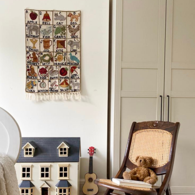 Covetable: Moppet alphabet wall hangings